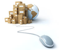 World wide  delivery Royalty Free Stock Photo