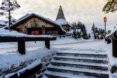 Santa claus village - rovaniemi- artic circle royalty free stock photos