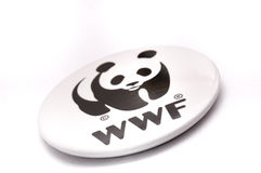 World Wide Fund For Nature Pin-Back Button Badge Stock Image