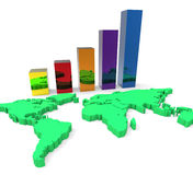World Wide Growth Means Up Development And Rise Royalty Free Stock Images
