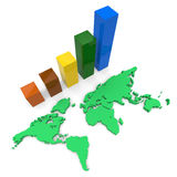 World Wide Growth Shows Raise Gain And Expansion Stock Images