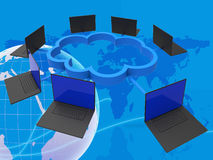 World Wide Indicates Lan Network And Computer Stock Images
