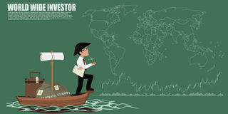 World wide investor simply Royalty Free Stock Photo