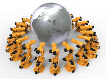World wide mass manufacturing robots Stock Images