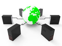 World Wide Network Represents Web Site And Computer Stock Photo