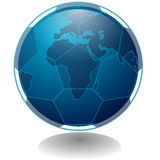 World Wide Soccer. This is an icon of a soccer ball merged with the earth Stock Photo