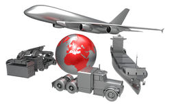 World wide transport concept Stock Photos