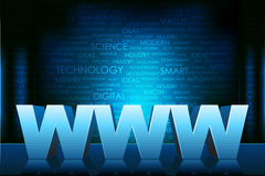 World wide web. Illustration of www text on technology typography background Stock Photos