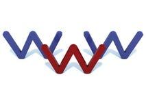 World wide web. Isolated on white Royalty Free Stock Image