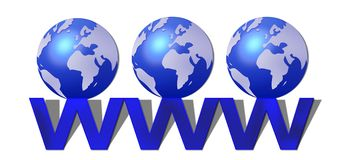 World Wide Web stock abbildung