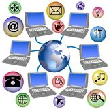 World Wide Web. An illustration depicting the world wide web services