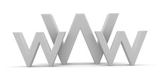 World Wide Web. 3d World Wide Web internet symbol Stock Photography