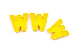 World Wide Web avec les lettres en plastique image libre de droits