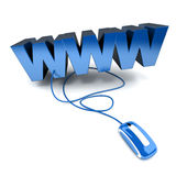 World Wide Web in blue Royalty Free Stock Image