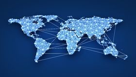 World-wide web. On blue background (done in 3d vector illustration