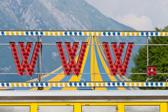 World wide web circus neon sign www Royalty Free Stock Image
