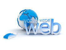 World Wide Web - concept illustration Stock Images