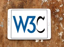 World Wide Web Consortium, W3C, logo Photo stock