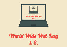 World Wide Web Day poster Royalty Free Stock Photography