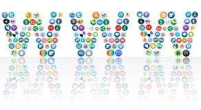 World Wide Web del establecimiento de una red social Fotos de archivo libres de regalías