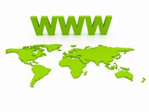 World Wide Web and Earth Royalty Free Stock Images