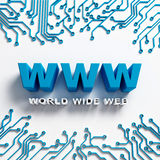 World Wide Web hi tech illustration. World Wide Web illustration design. Internet Concept Royalty Free Stock Images