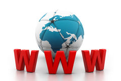 World wide web internet concept Stock Photography