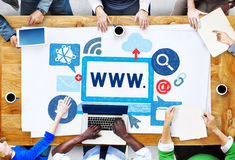 World Wide Web Internet Online Illustration Concept Stock Photos