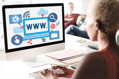 World Wide Web Internet Online Illustration Concept Royalty Free Stock Photos