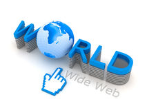 World Wide Web - internet symbols Royalty Free Stock Photos