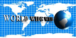 World wide web logo royalty free illustration