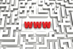 World Wide Web Maze - 3D image Stock Images