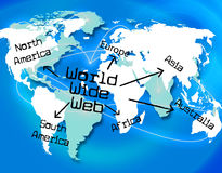World Wide Web Shows Searching Globalize And Online Royalty Free Stock Photo