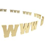 World wide web symbols as copyspace background Stock Images