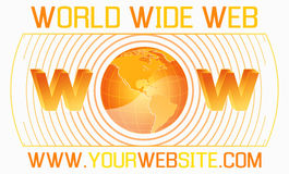 World wide web template Stock Photos