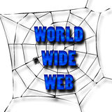 World Wide Web. Text written on a web Royalty Free Stock Photography