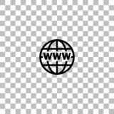 World Wide Web-vlak pictogram stock illustratie