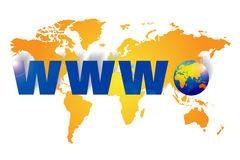 World wide web - www Stock Photo