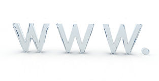 World wide web www 3d letter Royalty Free Stock Photos