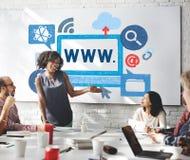 World- Wide Webinternet-on-line-Illustrations-Konzept Lizenzfreie Stockbilder