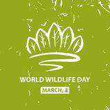 World wildlife day. March,3. Vector poster Stock Photography