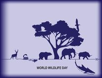 World Wildlife Day. Poster World Wildlife Day - Calendar event in March Stock Photo