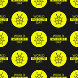 World Wildlife Day seamless pattern. World Wildlife Day tileable background. Vector design element, seamless pattern with symbols of insects. Yellow ladybug and Stock Photo