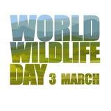 World wildlife day. Vector illustration. Greeting card Royalty Free Stock Photo