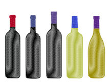 World Wines Pencil Style Stock Photos