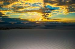World Wonder White Sand Dunes New Mexico Sunset Royalty Free Stock Images