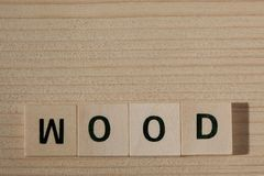 World wood made with wooden blocks with copy space royalty free stock photo