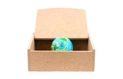 World in wooden box Royalty Free Stock Photo