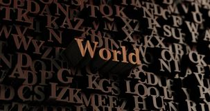 World - Wooden 3D rendered letters/message Royalty Free Stock Photography