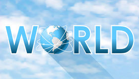 World word with globe connections network Royalty Free Stock Photos